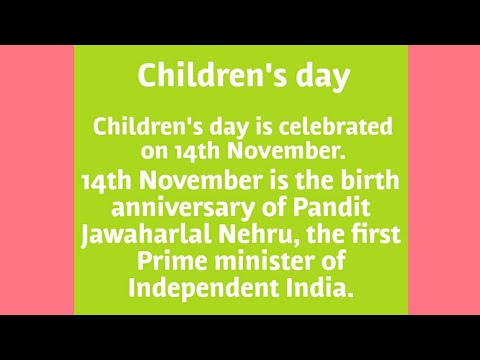 Celebrated Children's Day in India