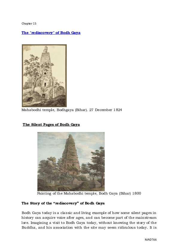 Mahabodhi Temple Bodhgaya  History Short Words